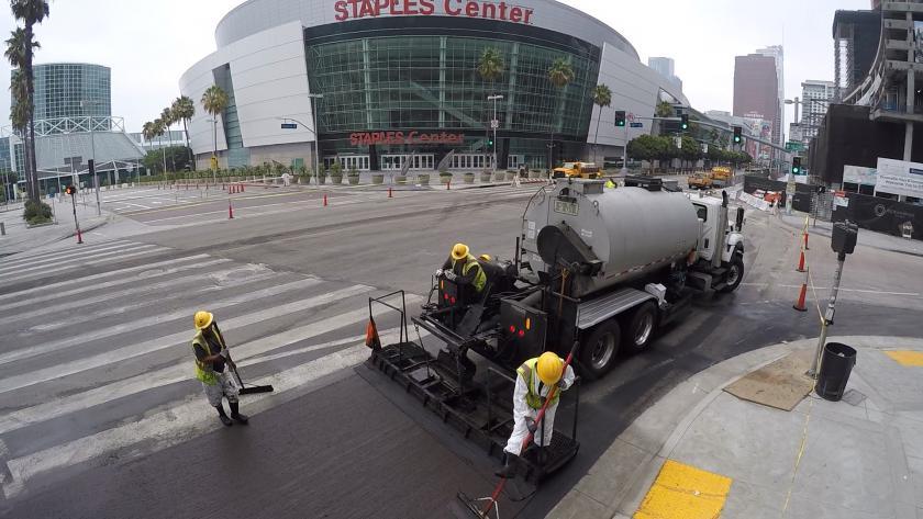 Staples Center Resurfacing